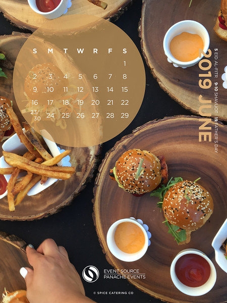 Tablet June Calendar Background