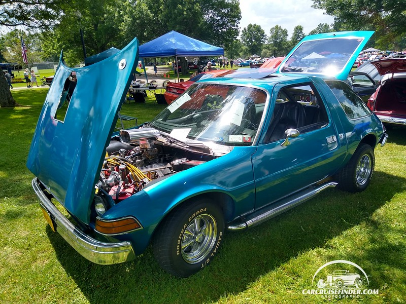 Hot rodded Pacer at the WORLD SERIES OF WHEELS CAR SHOW AND FLEA MARKET 2019