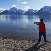 Fishing the Lake, Jackson Lake, Grand Teton National Park, WY