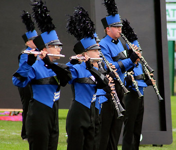 Roger Schneider | The Goshen News Flutes and clarinet players are featured during a section of the Fairfield show.