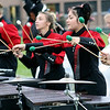 Roger Schneider | The Goshen News<br /> Adrienne Lehman, left, and Ary Kehoe, play their marimbas during the NorthWood Red Regiment performance at Concord.