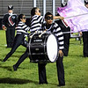 Roger Schneider | The Goshen News<br /> Elkhart Memorial's bass drummer Porschia Kemery, performs in costume during the Concord band invitational Saturday night.