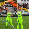 Roger Schneider | The Goshen News<br /> Members of the Wawasee band's color guard perform during their show at Concord Saturday.
