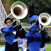 Roger Schneider | The Goshen News<br /> Jackson Otis (tuba) and Matthew Thomas (baritone), perform for the Fairfield Marching Pride at the Concord invitational.