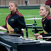 "Roger Schneider | The Goshen News<br /> Mackenzie Kelly and Riley Horvath add some percussive music to Jimtown's ""Moving Mountains"" show."