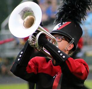 Roger Schneider | The Goshen News Jaci Hochstetler plays the mellophone for the NorthWood Red Regiment.