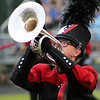 Roger Schneider | The Goshen News<br /> Jaci Hochstetler plays the mellophone for the NorthWood Red Regiment.