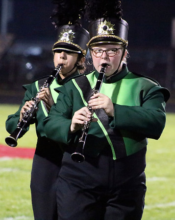 Roger Schneider | The Goshen News<br /> Northridge band members peform Saturday at the Concord invitational.