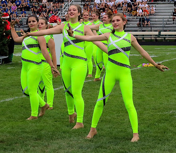 Roger Schneider | The Goshen News Members of the Wawasee color guard perform together Saturday at Concord High School.