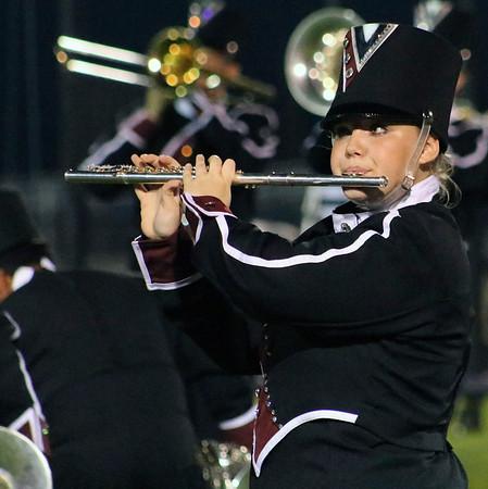 Roger Schneider   The Goshen News<br /> Maya Cunningham plays the flute for Elkhart Memorial's Crimson Charger Command.