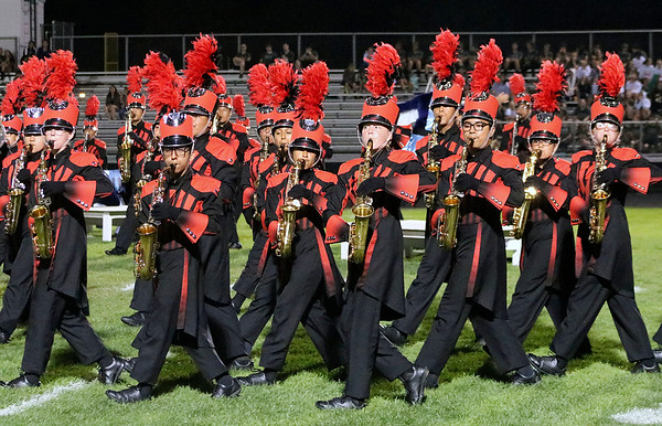 Roger Schneider | The Goshen News TheGoshen  alto saxophone section performs during the Concord band invitational.