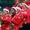 Roger Schneider | The Goshen News<br /> Decked out in holiday costumes, members of the Wawasee band prepare to perform Saturday.
