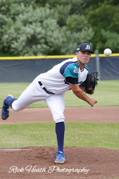 Brewster Whitecaps sweep the Hyannis Harbor Hawks in their Father's Day double header. Brewster beat the Firebirds the night before at Eldredge Park.