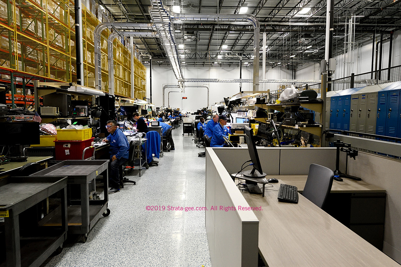 A photo of Crestron's service department