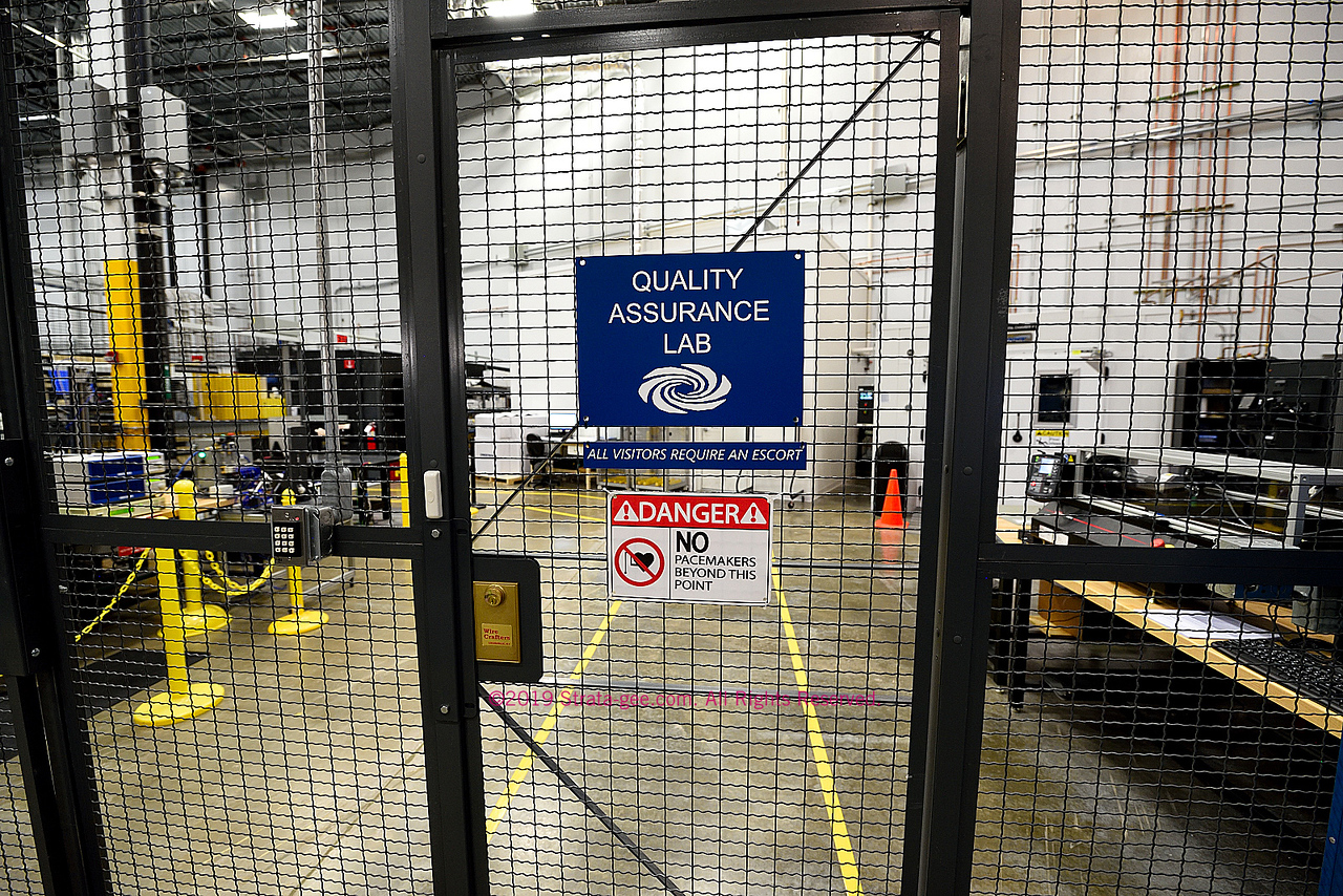 Photo of entry to the Quality Assurance Lab