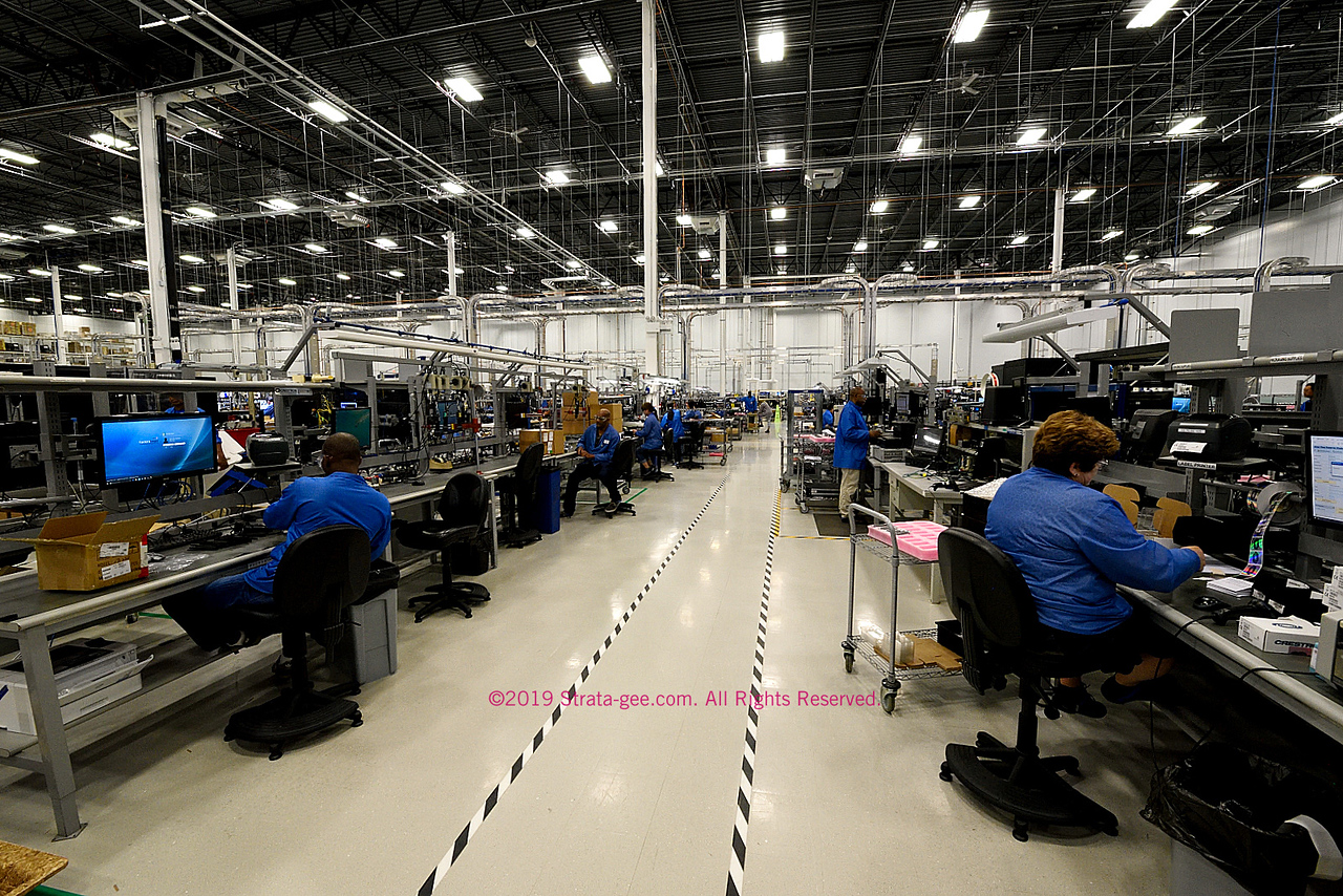 """One of the 24 production lines in Crestron's new """"factory of the future"""""""