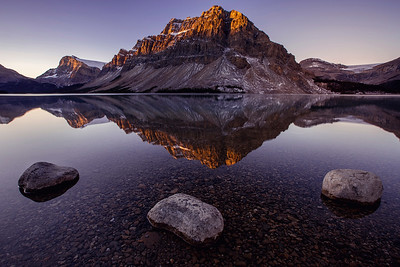 DA105,Reflections,Sunrise at Bow Lake