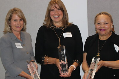 This year's Distinguished Alumni Award winners (and those who received them on their behalf).