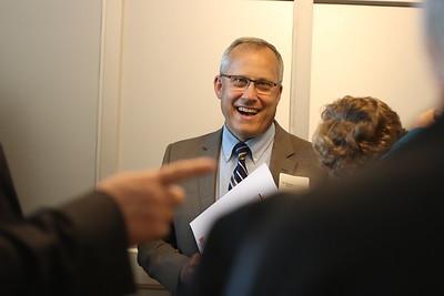WAHS Head Principal Dr. Brandon Pardoe mingles with the crowd.