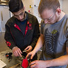 Engineering Technology students working on mini baja vehicle at Buffalo State College.