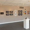 Design Foundations student art show in the Margaret Bacon Gallery at Buffalo State College.