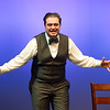 Theater student Jesse Zappia performing at the Theater Department Senior Showcase at Buffalo State College.