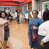 Graduate student research fair at Buffalo State College.