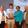 Phillip Santa Maria Student Humanitarian Award winner, Alec Eichelkraut receiving award during the Student Leadership Awards ceremony at Buffalo State College.