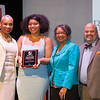 Phillip Santa Maria Award for Student Leadership in Equity and Campus Diversity winner, Jumirna Alcober receiving award during the Student Leadership Awards ceremony at Buffalo State College.