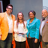 Mildred Campbell Student Leadership Award winner, Kaytland Gambles receiving award during the Student Leadership Awards ceremony at Buffalo State College.