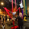Students working in Professor Kathleen Golde's Aerial Dance and Circus Arts class at Buffalo State College.
