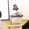 Youth Voices presentation by student Ja'Chanti Anderson at Buffalo State College.