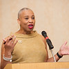 Buffalo State Chief Diversity Officer Dr. Karen Clinton Jones speaking at the Networking in Higher Education: Building Bridges for a Better Tomorrow conference hosted by Buffalo State College and the University at Buffalo.