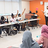 EOP Senior Academic Advisor Jude Jayatilleke speaks to Say Yes Program students at Buffalo State College.