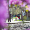 Spring campus scenics at Buffalo State College.