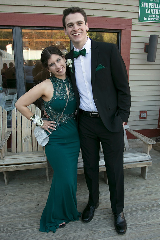. Scenes from the Fitchburg High School Prom at Wachusett Mountain Ski Area, May 11, 2019. Madison Alejandro and Sebastian Goyette-Connerty at the prom. SENTINEL & ENTERPRISE/JOHN LOVE