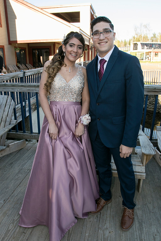 . Scenes from the Fitchburg High School Prom at Wachusett Mountain Ski Area, May 11, 2019. Maritza Medina at the prom. SENTINEL & ENTERPRISE/JOHN LOVE