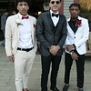 Scenes from the Fitchburg High School Prom at Wachusett Mountain Ski Area, May 11, 2019. Devin Deleon, Steven Angomas and Caleb Smith at the prom. SENTINEL & ENTERPRISE/JOHN LOVE