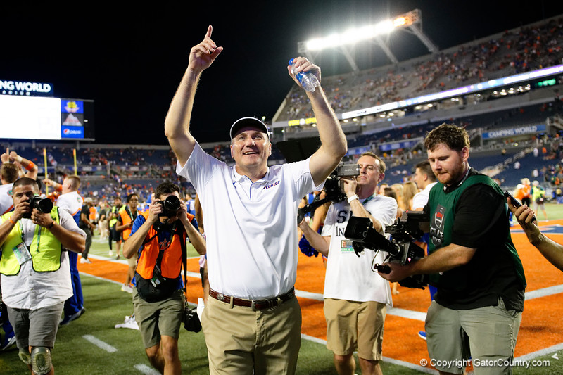 Photos from the first half as the University of Florida Gators the University of Miami Hurricanes at Camping World Stadium in Orlando, Florida.  August 23rd, 2019. Gator Country Photo by David Bowie.