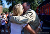 Florida Gators head coach Dan Mullen kisses his wife, Megan Mullen as the Gators arrive during Gator Walk as the Gators prepare to face UT Martin at Ben Hill Griffin Stadium in Gainesville, Florida.  September 7th, 2019. Gator Country Photo by David Bowie.