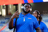 Florida Gators offensive lineman T.J. Moore (75) during Gator Walk as the Gators prepare to face UT Martin at Ben Hill Griffin Stadium in Gainesville, Florida.  September 7th, 2019. Gator Country Photo by David Bowie.