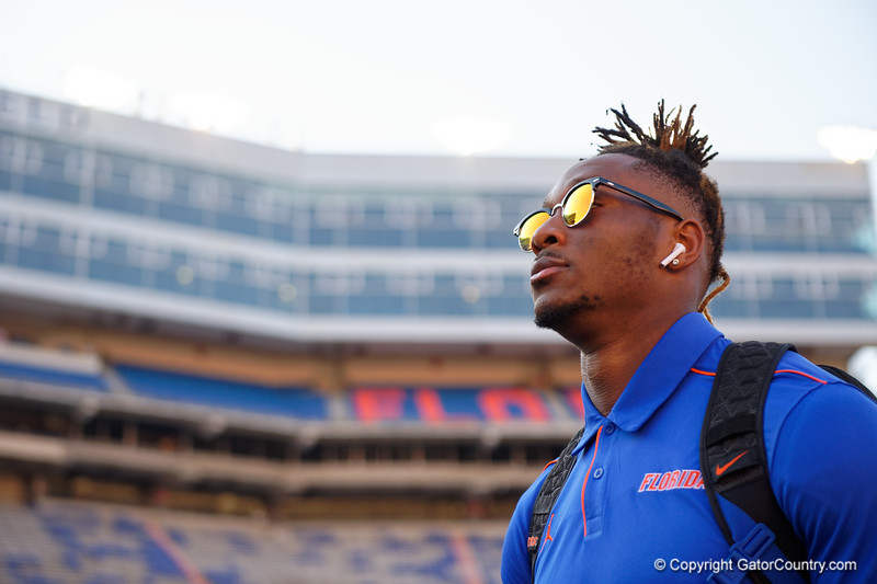Florida Gators wide receiver Jacob Copeland (15) during Gator Walk as the Gators prepare to face UT Martin at Ben Hill Griffin Stadium in Gainesville, Florida.  September 7th, 2019. Gator Country Photo by David Bowie.