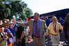 Florida Gators head coach Dan Mullen during Gator Walk as the Gators prepare to face UT Martin at Ben Hill Griffin Stadium in Gainesville, Florida.  September 7th, 2019. Gator Country Photo by David Bowie.