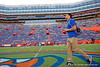 Florida Gators quarterback Feleipe Franks (13) during Gator Walk as the Gators prepare to face UT Martin at Ben Hill Griffin Stadium in Gainesville, Florida.  September 7th, 2019. Gator Country Photo by David Bowie.