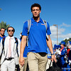 Florida Gators quarterback Feleipe Franks (13) as the Gators walk into Camping World Stadium during Gator Walk as the University of Florida Gators prepare to take on the University of Miami Hurricanes at Camping World Stadium in Orlando, Florida.  August 23rd, 2019. Gator Country Photo by David Bowie.