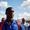 Florida Gators defensive back Trey Dean III (21) as the Gators walk into Camping World Stadium during Gator Walk as the University of Florida Gators prepare to take on the University of Miami Hurricanes at Camping World Stadium in Orlando, Florida.  August 23rd, 2019. Gator Country Photo by David Bowie.