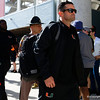 Miami Hurricanes head coach Manny Diaz walks into Camping World Stadium as the University of Florida Gators prepare to take on the University of Miami Hurricanes at Camping World Stadium in Orlando, Florida.  August 23rd, 2019. Gator Country Photo by David Bowie.