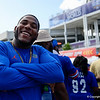 Former Gators linebacker Umstead Sanders cheers on as the Gators walk into Camping World Stadium during Gator Walk as the University of Florida Gators prepare to take on the University of Miami Hurricanes at Camping World Stadium in Orlando, Florida.  August 23rd, 2019. Gator Country Photo by David Bowie.