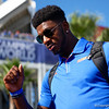 Florida Gators linebacker Jeremiah Moon (7) as the Gators walk into Camping World Stadium during Gator Walk as the University of Florida Gators prepare to take on the University of Miami Hurricanes at Camping World Stadium in Orlando, Florida.  August 23rd, 2019. Gator Country Photo by David Bowie.