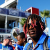 Florida Gators wide receiver Kadarius Toney (1) walks into Camping World Stadium during Gator Walk as the University of Florida Gators prepare to take on the University of Miami Hurricanes at Camping World Stadium in Orlando, Florida.  August 23rd, 2019. Gator Country Photo by David Bowie.